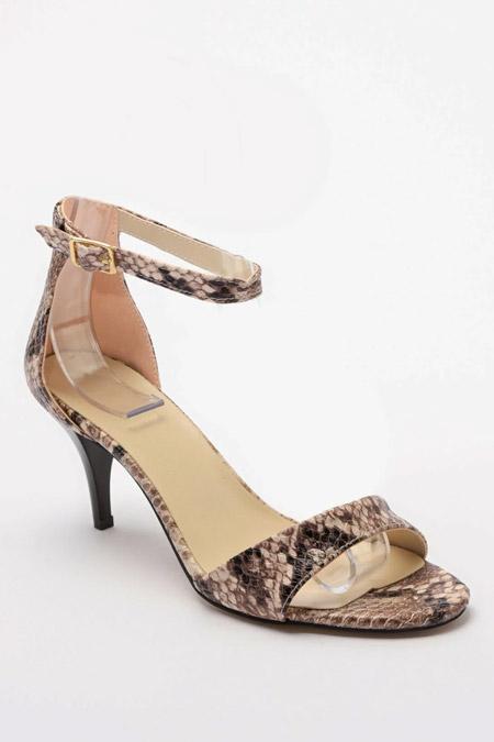 Trendyolmilla Bej Yılan Desenli Kadın Klasik Topuklu Ayakkabı
