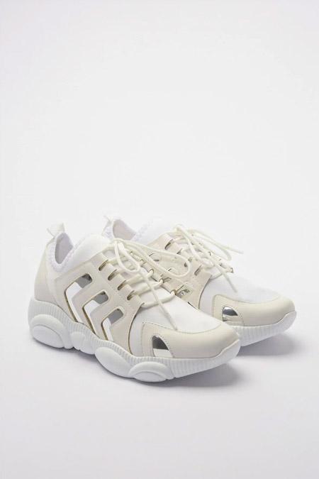Trendyolmilla Beyaz Yan Detaylı Kadın Sneaker
