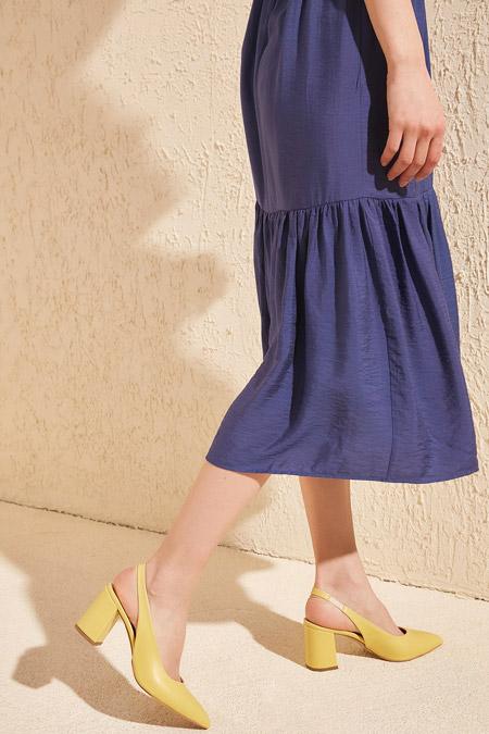 Trendyolmilla Sarı Kadın Klasik Topuklu Ayakkabı