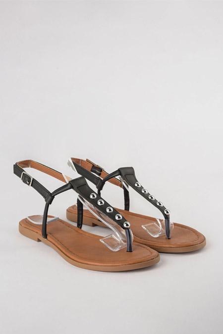 Trendyolmilla Siyah Trok Detaylı Kadın Sandalet