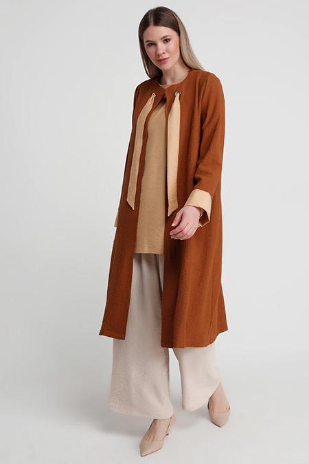 Alia Camel Karamel Bluz&Kap İkili Takım