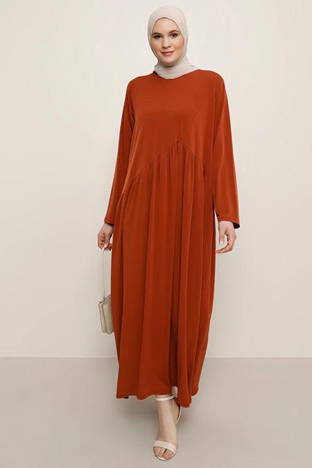 Alia Kiremit Pileli Elbise