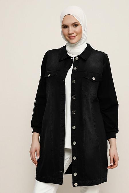 Alia Siyah Kot Ceket