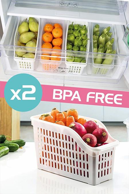 Dünya Plastik 2'li Buzdolabı Düzenleyici Set