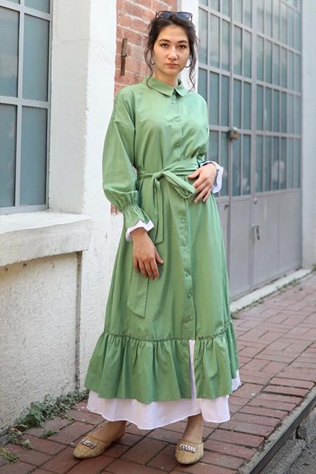 Gizce Yeşil Quaro Elbise
