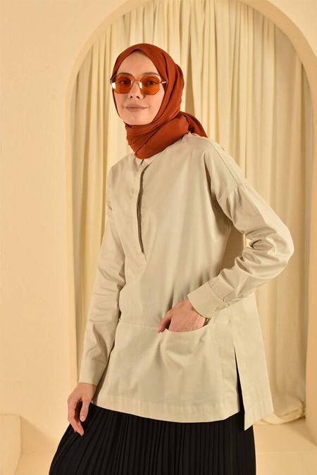 He-Qa Camel Kısa Tunik