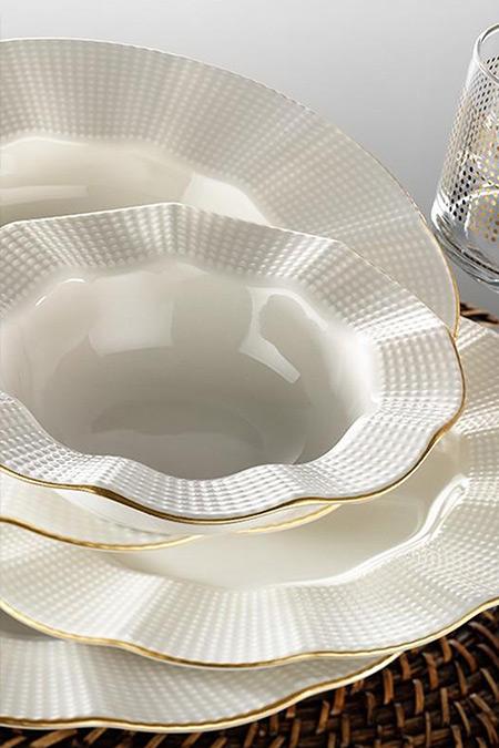 Kütahya Porselen Krem Milenda 83 Parça Yemek Takımı