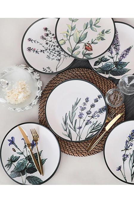 Keramika Çiçek Bahçesi 6 Parça 25 Cm Ege Servis Tabağı