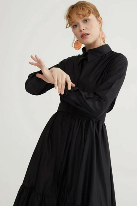 Melike Tatar Siyah Porto Elbise