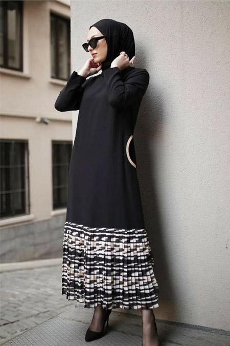 Modastilbutik Plise Detay Elbise