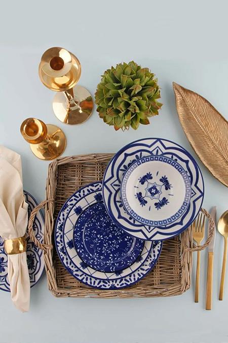 Porland Mavi Beyaz 32 Parça Ege Yemek Takımı