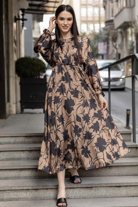 RUBYSCO Yaprak Elbise