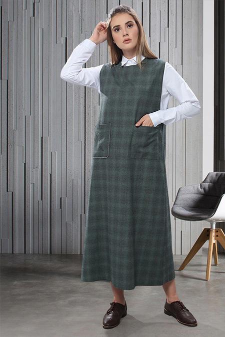 SAHRA AFRA Haki Furrier Elbise