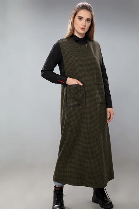 SAHRA AFRA Siyah Nuvole Elbise