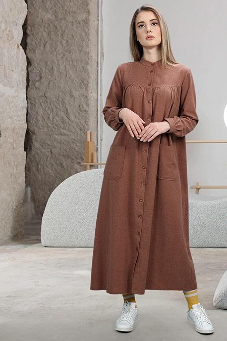 SAHRA AFRA Taba Fuss Elbise