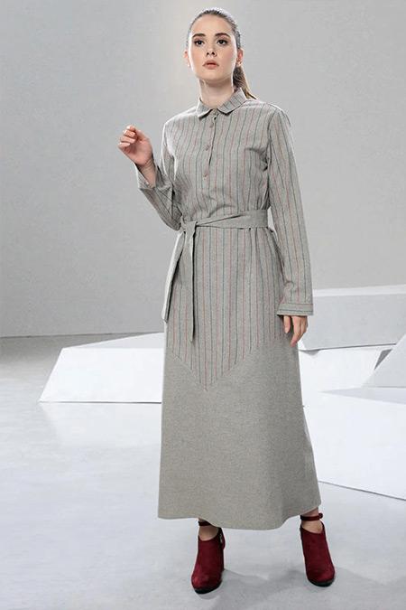 SAHRA AFRA Vizon Tenty Elbise