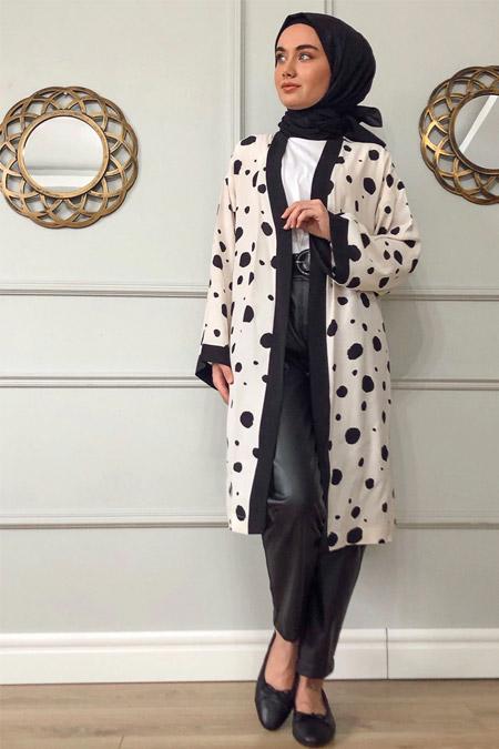 Sazze Design Krem Dalmaçya Kimono