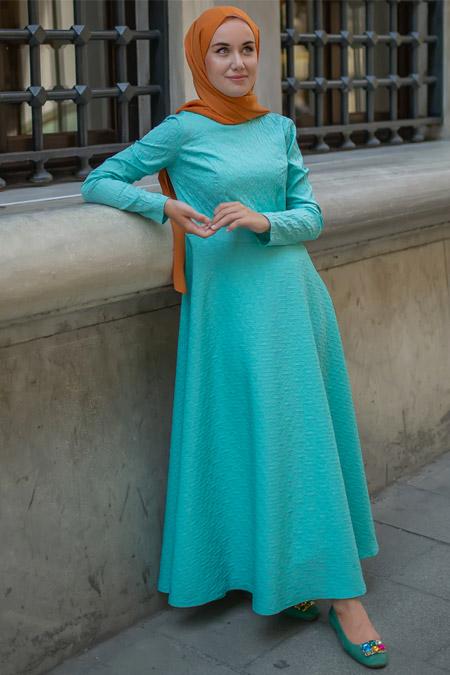 Sazze Design Turkuaz Lime Elbise