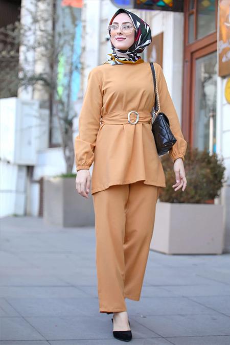 Tofisa Hardal Tunik&Pantolon İkili Takım