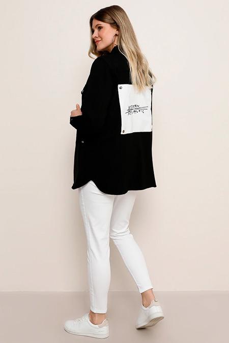 Alia Siyah Gömlek Tunik