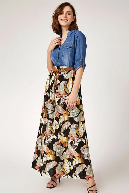 Bigdart Viskon Etekli Kot Elbise