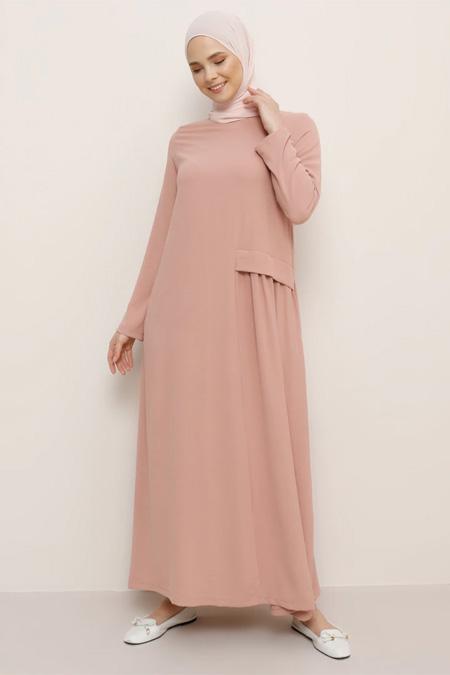 Everyday Basic Somon Cep Detaylı Elbise