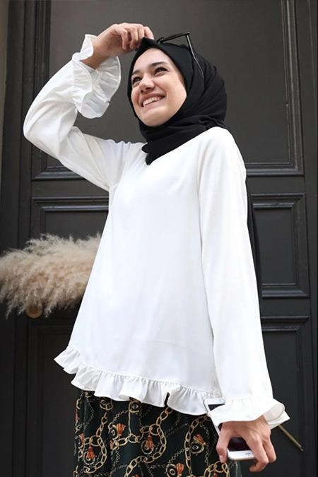 Gizce Beyaz Ceown Gömlek