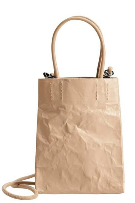Mango Bej Kırışık Görünümlü Çanta