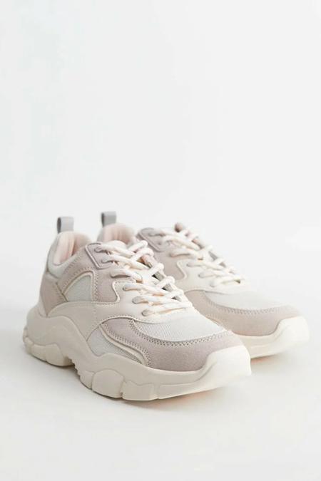 Mango Beyaz Büyük Tabanlı Sneaker