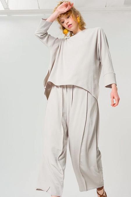 Miha Gri Pantolon & Tunik İkili Takım