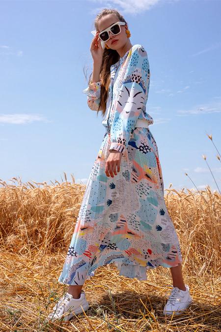 Miha Mavi Etek & Tunik İkili Takım