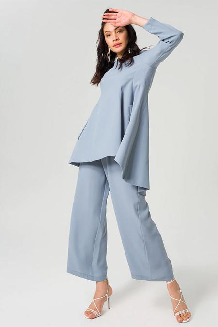 Miha Mavi Tunik & Pantolon İkili Takım