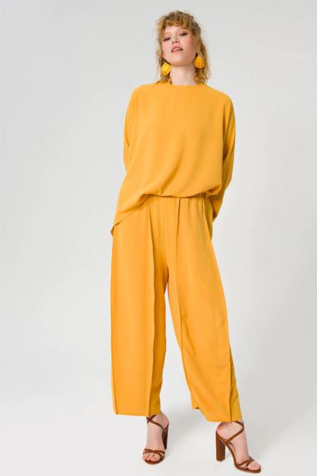 Miha Sarı Pantolon & Tunik İkili Takım