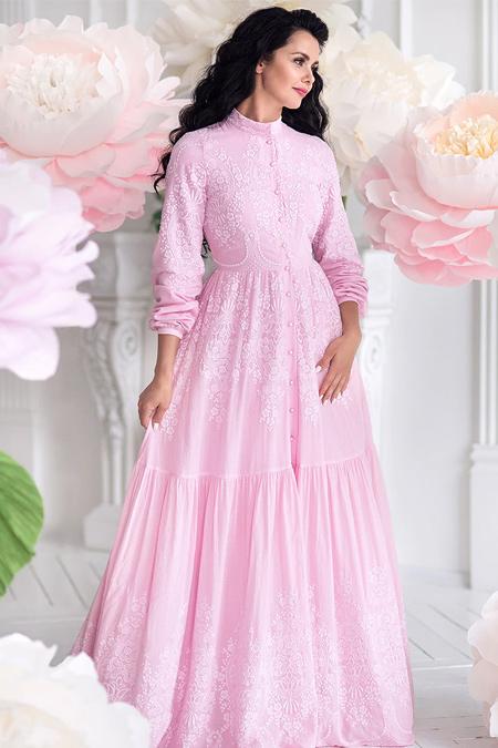 Muslima Wear Pembe Rose Dream Abiye Elbise