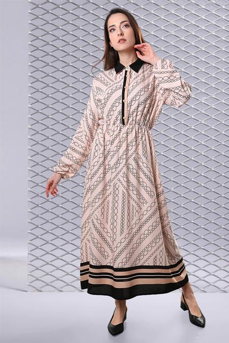 Sahra Afra Bej Canede Elbise