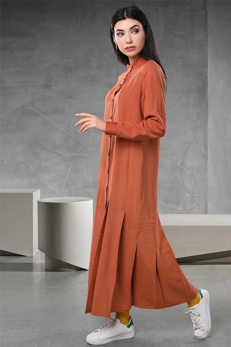 Sahra Afra Kiremit Cuella Elbise