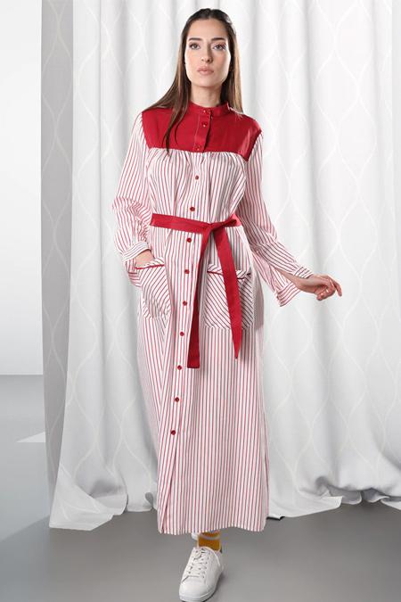 Sahra Afra Kırmızı Sea Elbise