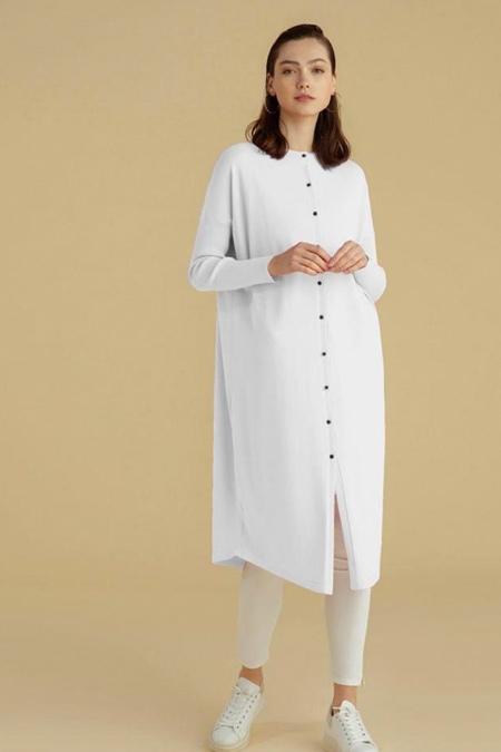 Semanin Dikimevi Beyaz Ceket