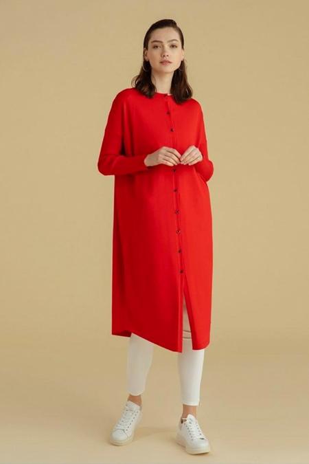 Semanin Dikimevi Kırmızı Merserize Ceket