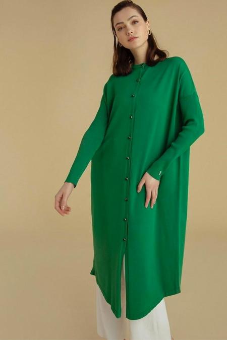 Semanin Dikimevi Yeşil Merserize Ceket