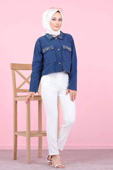 Tofisa Beyaz Tesettür Klasik Pantolon