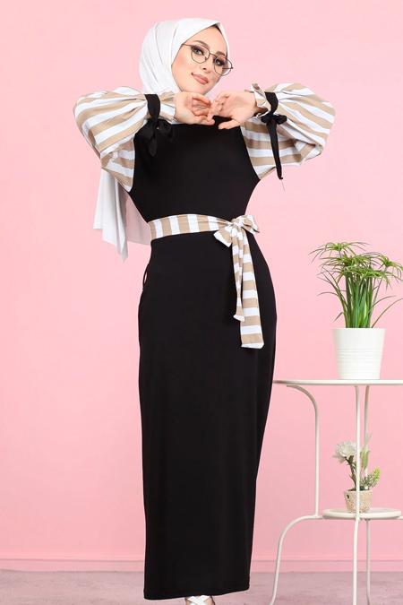Tofisa Vizon Tesettür Elbise