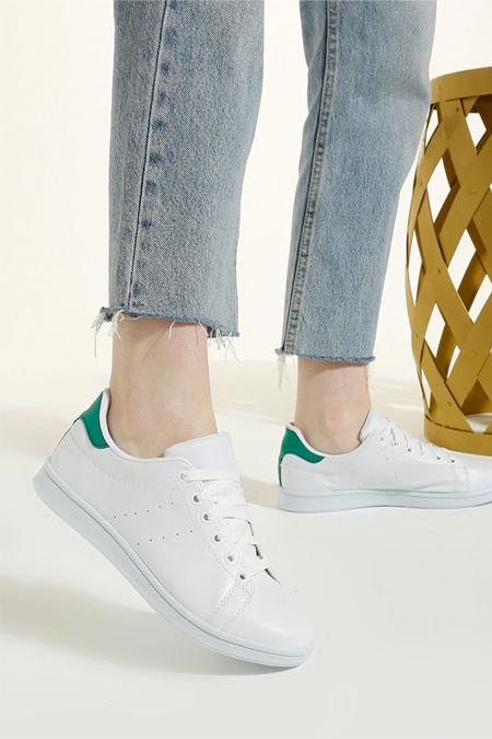 Art Shoes Beyaz Yeşil Spor Ayakkabı