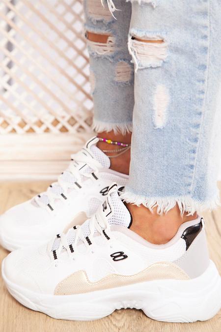 Ayakkabı Havuzu Beyaz Altın Spor Ayakkabı
