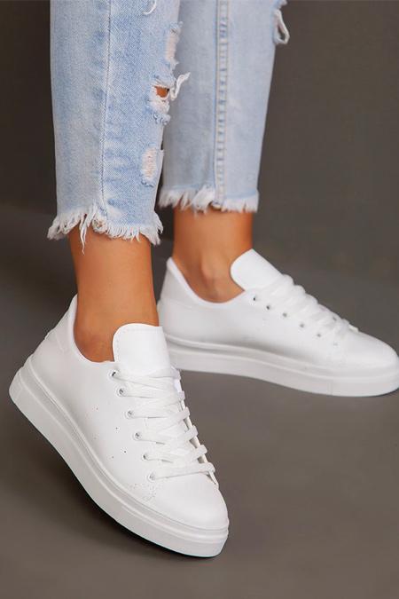 Ayakkabı Havuzu Beyaz Spor Ayakkabı