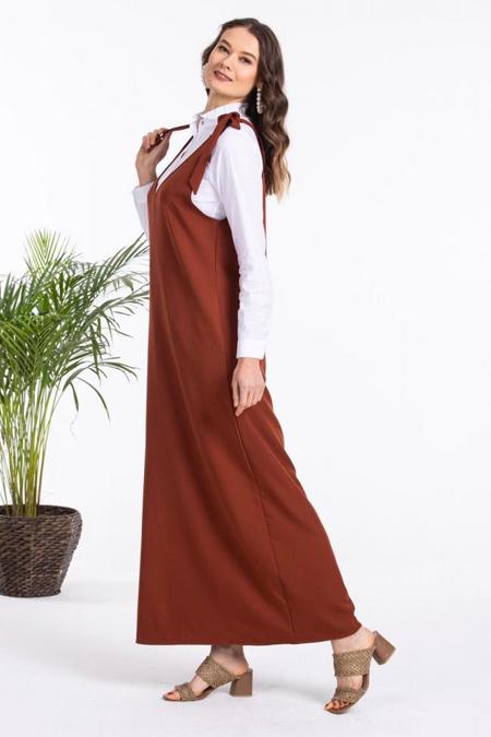 By Hatice Poyraz Kiremit Bağlamalı Jile Elbise