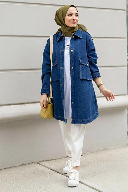Gizce Mavi Doris Kot Ceket