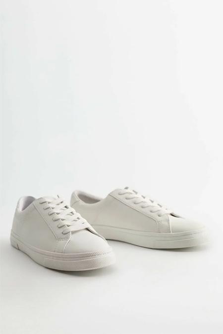 Mango Beyaz Bağcıklı Basic Spor Ayakkabı