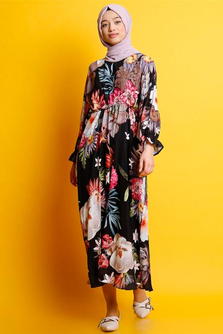 Modamelis Çiçekli Salaş Elbise