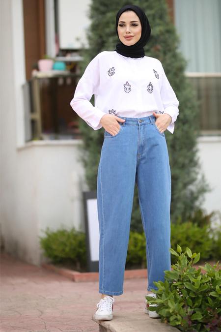 Neways Açık Mavi Kot Pantolon
